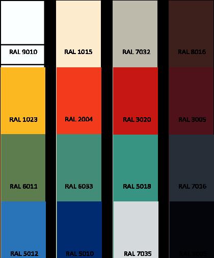 Standardowa paleta kolorów