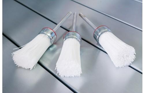 Pędzel do mycia biały - twarde włosie